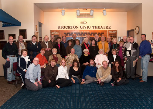 Participants at Stockton Civic Theater's February 19 archive event