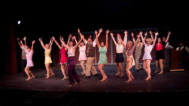 The SCT 42ND STREET chorus struts out the show's opening number.