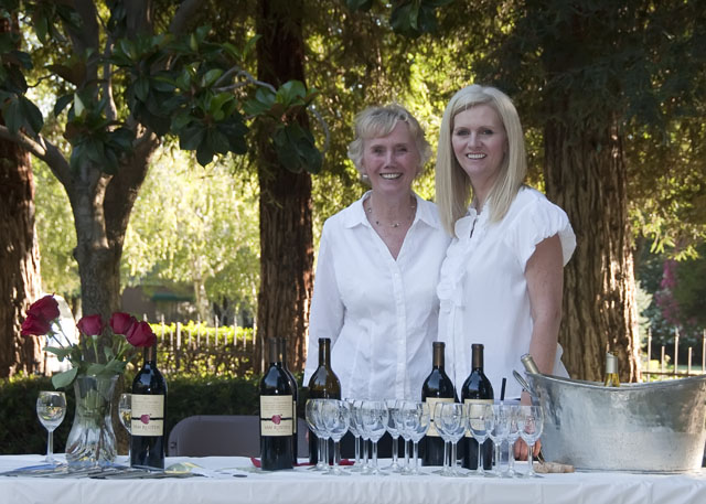 Norma Johnson and Susan Van Ruiten poured complimentary wines from Van Ruiten Family Winery for guests.