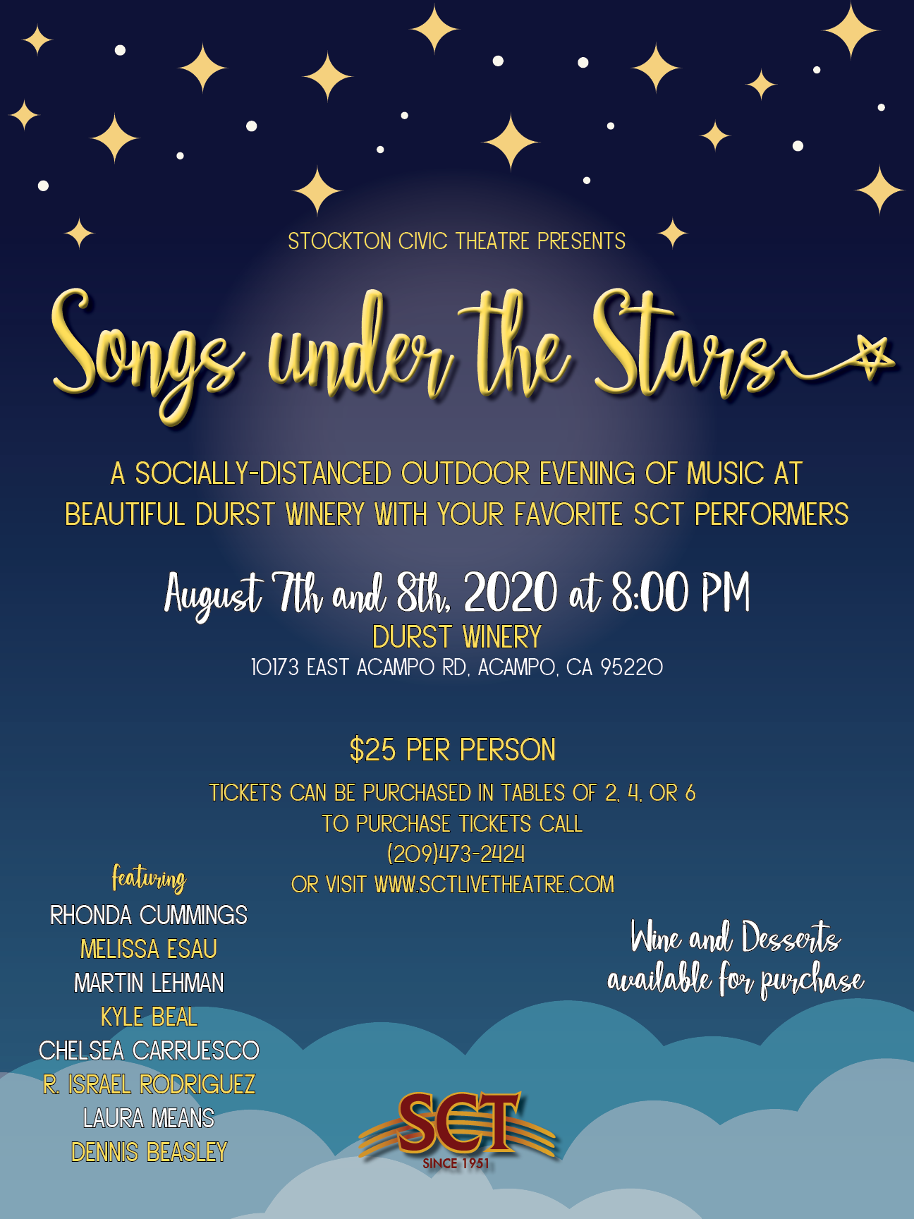 Songs Under the Stars at Durst Winery