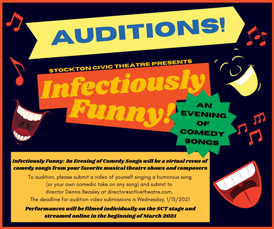 Auditions for Infectiously Funny: An Evening of Comedy Songs